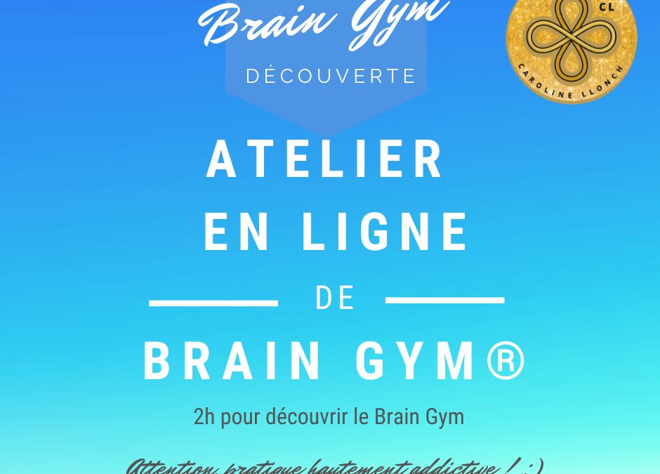 Atelier découverte du Brain Gym en ligne