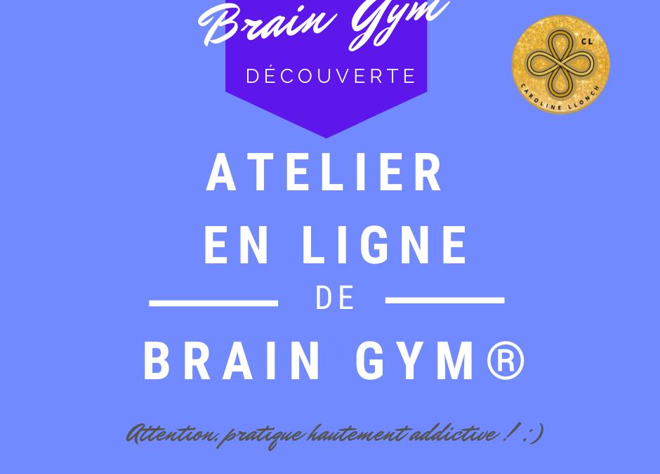 Atelier en ligne : découverte du Brain Gym